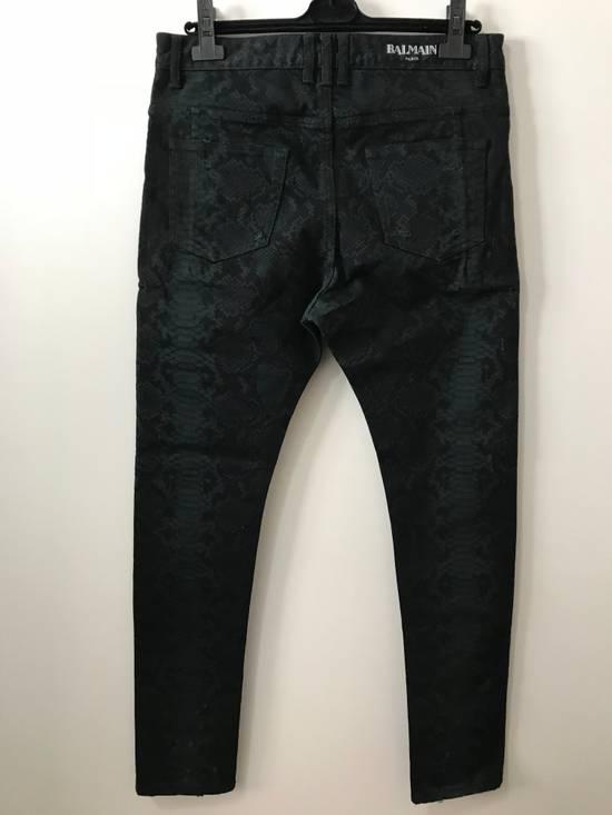 Balmain Size 32 - Distressed Snake Print Rockstar Jeans - FW17 - RARE Size US 32 / EU 48 - 2