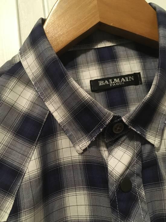 Balmain AW10 Shadow Plaid Western Shirt Size US S / EU 44-46 / 1 - 1