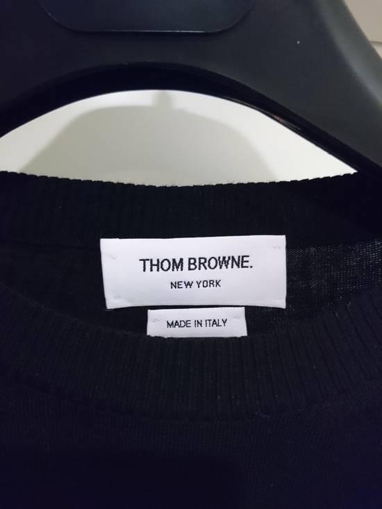 Thom Browne Black wool stripe knit, size 5 - RARE Size US L / EU 52-54 / 3 - 1