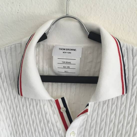Thom Browne $1190 THOM BROWNE CABLE KNIT POLO SHIRT NEW rare Size US XL / EU 56 / 4 - 1