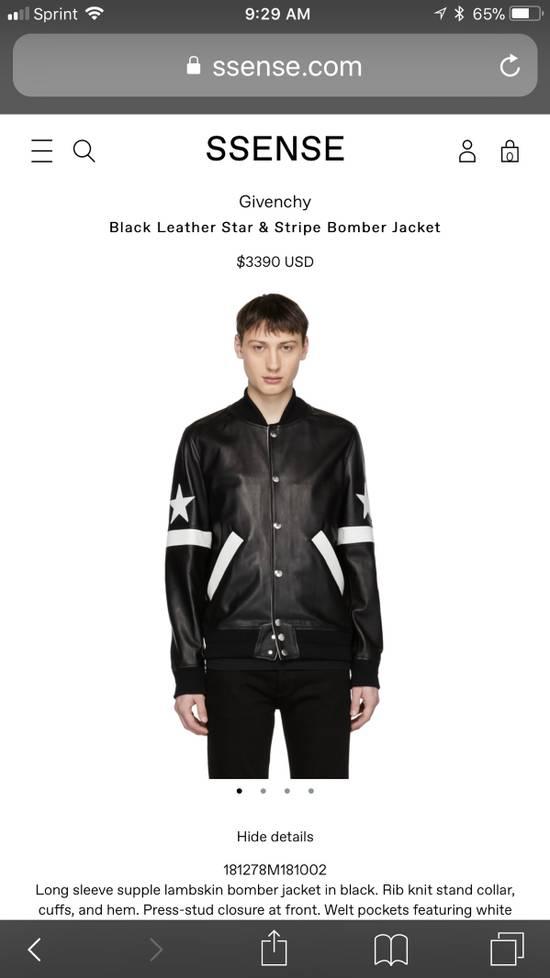 Givenchy Givenchy Black Leather Star And Stripe Bomber Jacket Size US M / EU 48-50 / 2 - 3