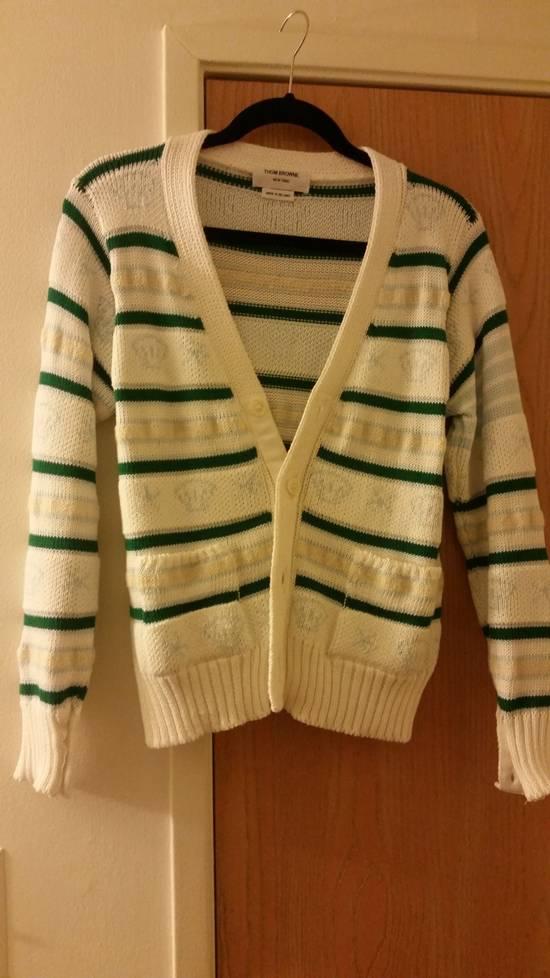 Thom Browne 16 Ss wool mohair fish cardigan Size US M / EU 48-50 / 2 - 1
