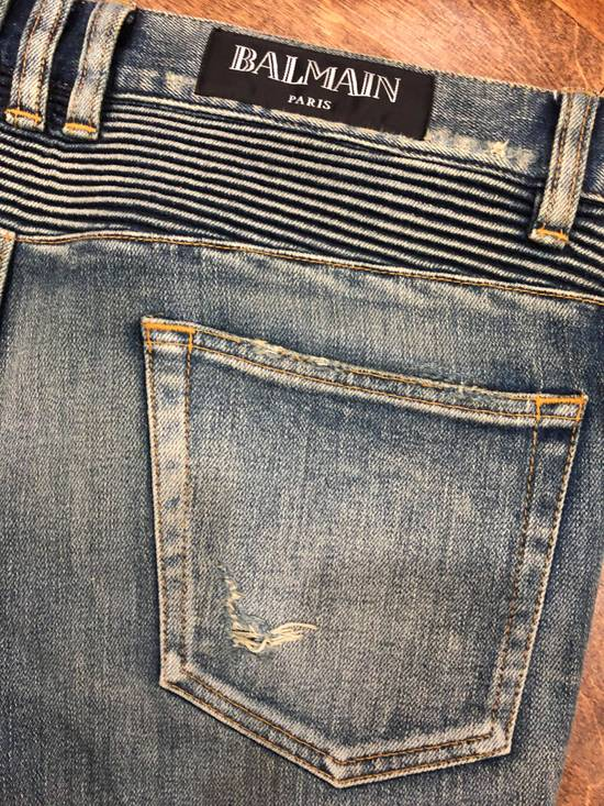Balmain Balmain Destroyed Slim Fit Biker Jeans Size US 32 / EU 48 - 9