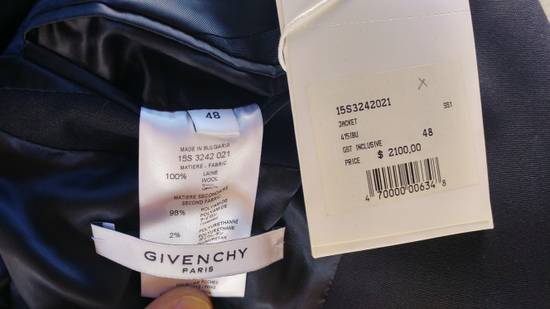 Givenchy $2100 Givenchy Navy Blue Bomber Sleeves Wool Stars Blazer Jacket size 48 (S / M) Size 48S - 11