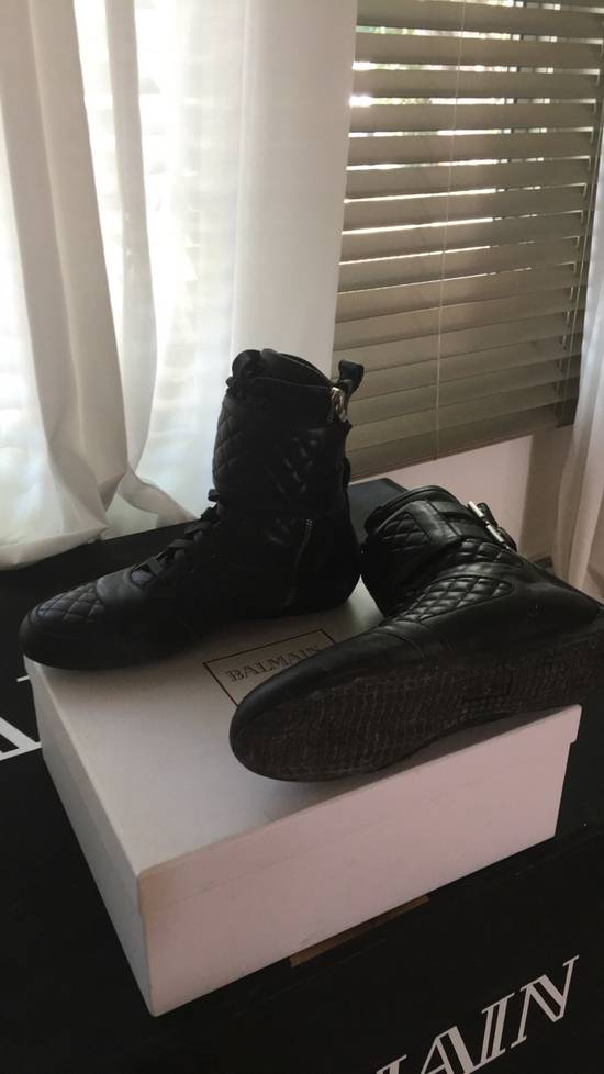 Balmain Quilted Leather Sneaker Size US 9 / EU 42 - 1