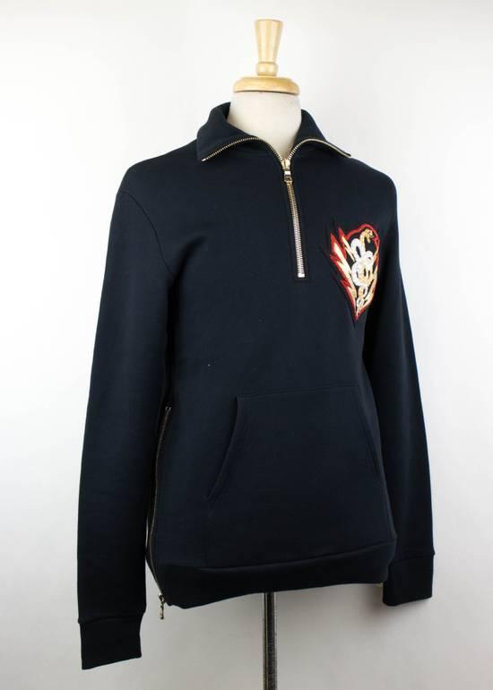 Balmain Blue Cotton Embroidered Patch 1/2 Zip Sweater Size M Size US M / EU 48-50 / 2 - 2