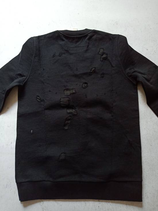 Givenchy GIVENCHY Logo-Print Distressed Cotton Sweatshirt Size US S / EU 44-46 / 1 - 4