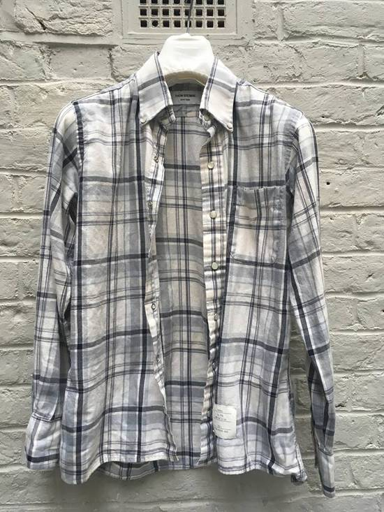 Thom Browne Aw2008 Pearl Snap Enclosure Flannel Size US M / EU 48-50 / 2 - 3