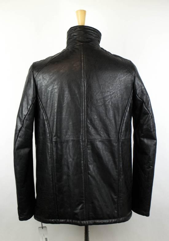 Julius 7 Men's Black Lamb Skin Leather Zip-Up Jacket Size 3/M Size US M / EU 48-50 / 2 - 3