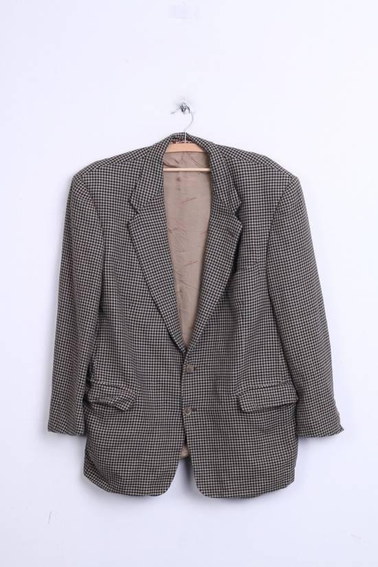 Balmain Pierre Balmain Paris El Corte Ingles Mens 56 L Blazer Top Suit Check Wool Brown 9933 Size 42R