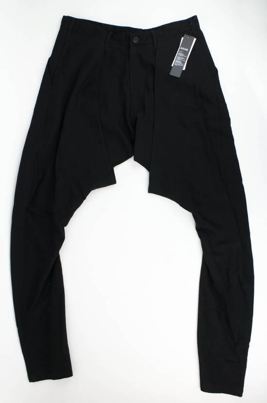 Julius 7 Black 'Slim Drop Crotch' Slim Fit Casual Pants Size 4/L Size US 36 / EU 52 - 2
