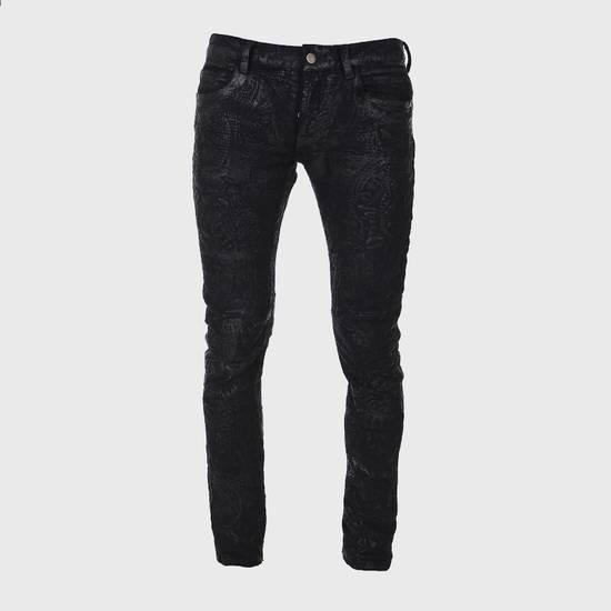 Balmain Balmain Midnight Blue Waxed Embroidered Jeans Size US 27 - 1