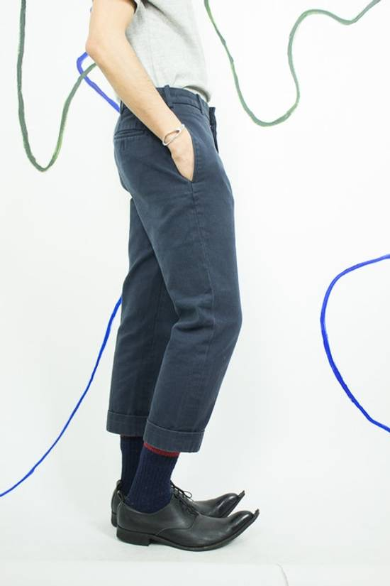 Thom Browne Navy Blue Cropped Pants Size US 29 - 1