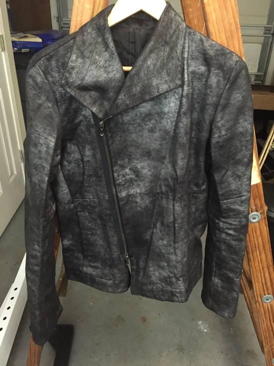 Julius FW07 Black/Silver Coated Cotton Jacket Size US M / EU 48-50 / 2 - 6