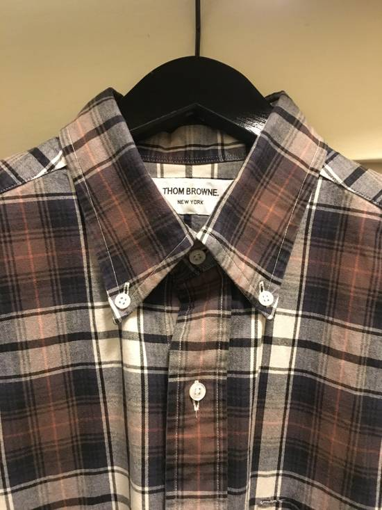 Thom Browne THOM BROWNE CHECK BUTTON DOWN FLANNEL Size US L / EU 52-54 / 3 - 1