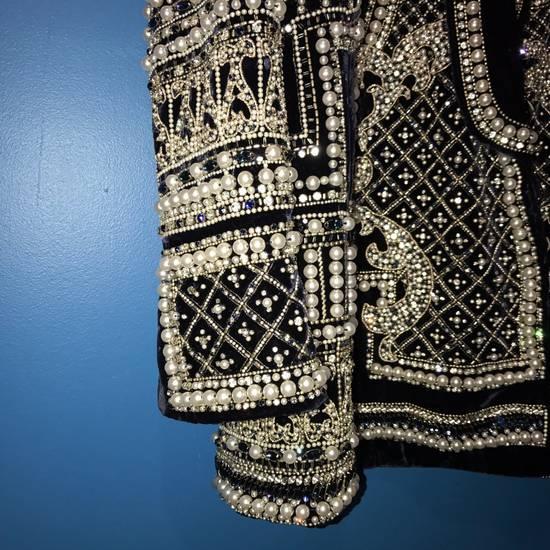 Balmain Balmain Fall 2012 Swarovski Crystal & Pearl Fabergé Tuxedo Size US XXL / EU 58 / 5 - 9