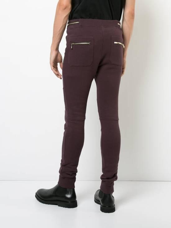 Balmain Balmain Burgundy Sweatpants Large Size US 34 / EU 50 - 3