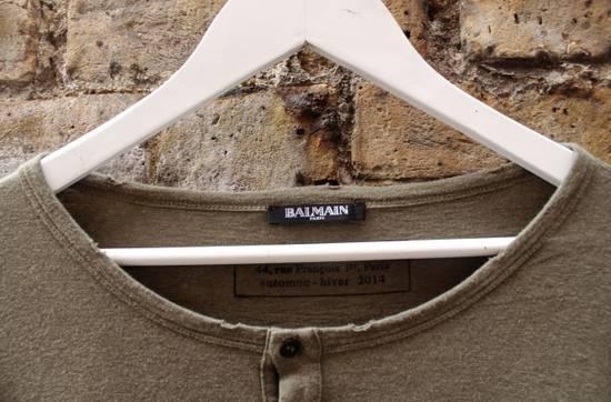 Balmain Balmain Military Henley Long Sleeve Large A/W 2014 Size US L / EU 52-54 / 3 - 4