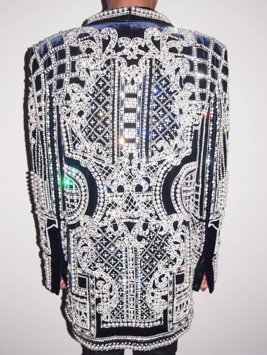 Balmain Balmain Fall 2012 Swarovski Crystal & Pearl Fabergé Tuxedo Size US XXL / EU 58 / 5 - 2