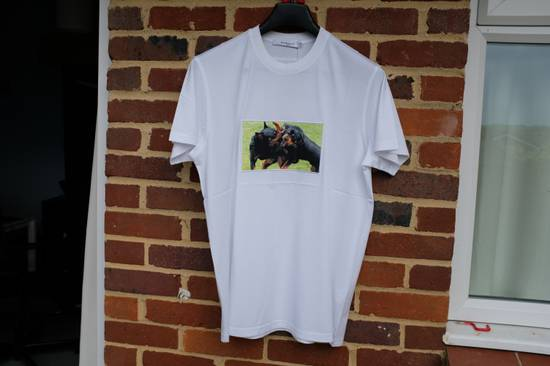 Givenchy White Fighting Rottweilers T-shirt Size US XS / EU 42 / 0