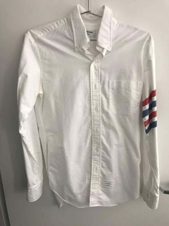 Thom Browne Thom Browne Classic White Shirt with Stripes Size US M / EU 48-50 / 2