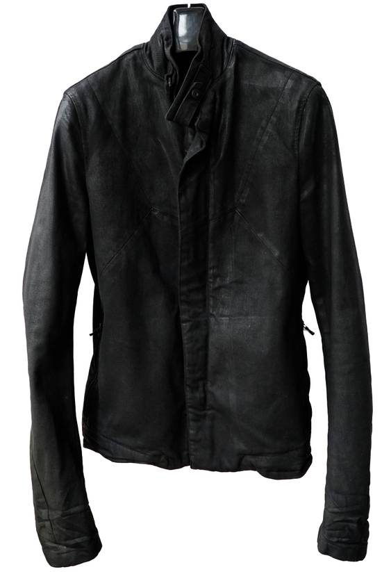 Julius JULIUS _7 ma moto black knit denium biker jacket sz1 eu44 46 xs s slim fit Japan Size US S / EU 44-46 / 1 - 3