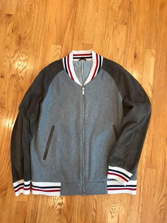 Thom Browne Cashmere & Suede Varsity Jacket Sz 4 Size US L / EU 52-54 / 3