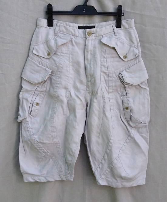 Julius Gas Mask Cargo Shorts White Bamboo Twill ss12 Size US 30 / EU 46