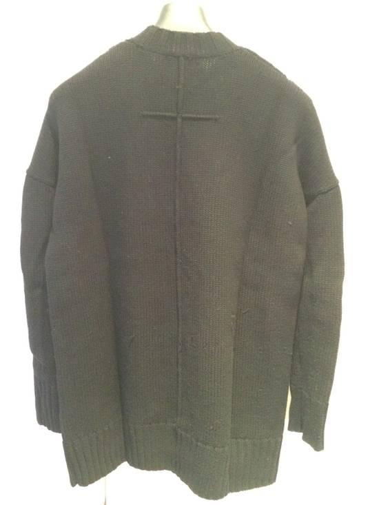 Givenchy FW09 Oversized Black Sweater Anchor Intarsia Size US XS / EU 42 / 0 - 2