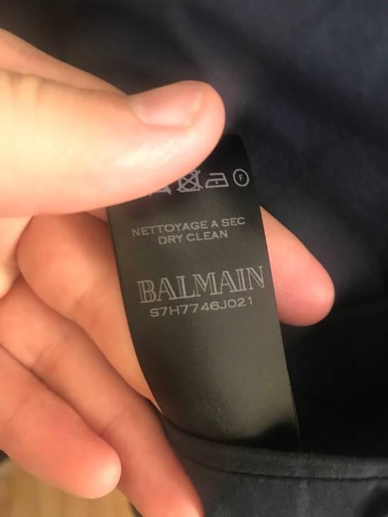 Balmain Slim Fit Cotton Navy Blazer Size 44R - 8