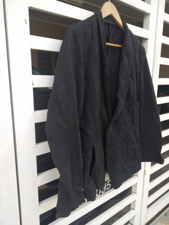 Julius Julius 2004 The Structure Black Cotton Coat Jacket Blazer Size US S / EU 44-46 / 1 - 3
