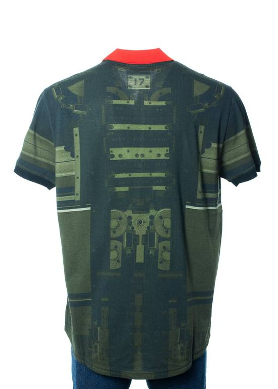 Givenchy Givenchy Men's Olive & Red Printed Graphic Polo Shirt Size US S / EU 44-46 / 1 - 1