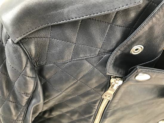 Balmain Quilted Leather Biker Jacket Size US M / EU 48-50 / 2 - 2