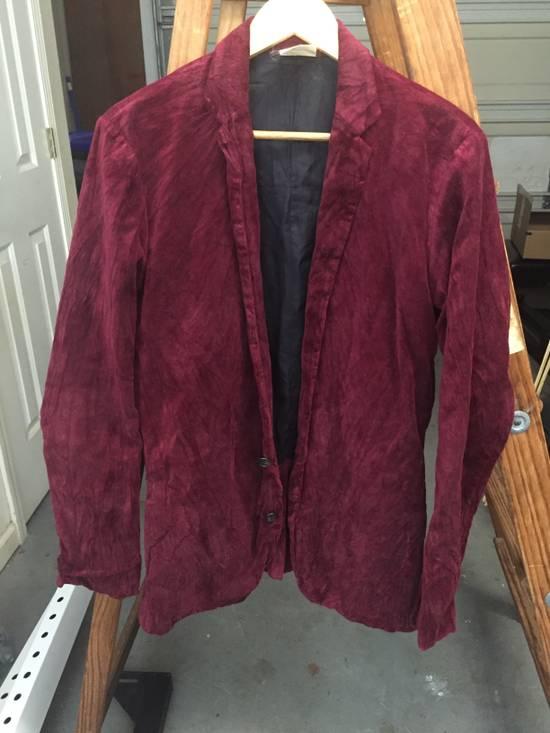Julius AW03 Blood Red Velvet Blazer Size US M / EU 48-50 / 2
