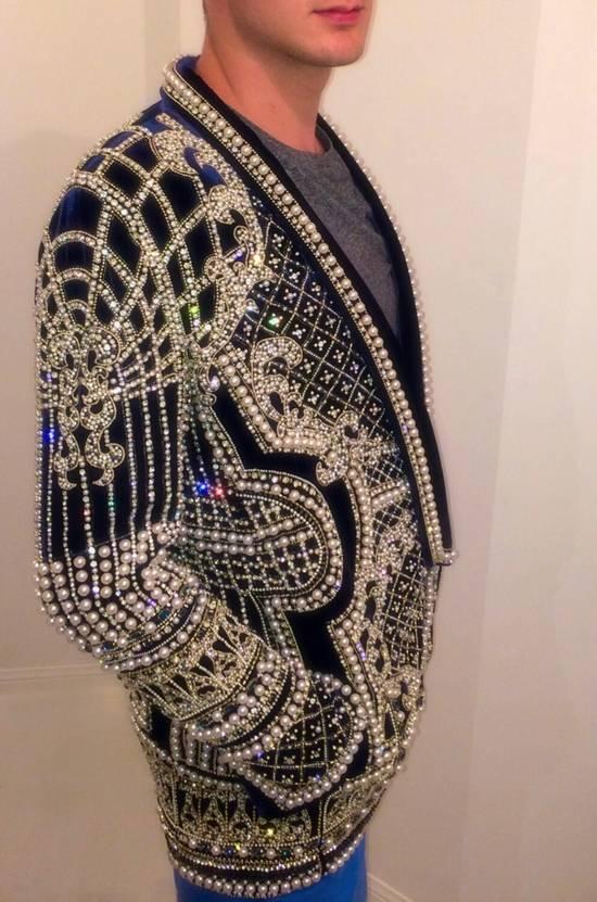 Balmain Balmain Fall 2012 Swarovski Crystal & Pearl Fabergé Tuxedo Size US XXL / EU 58 / 5 - 5