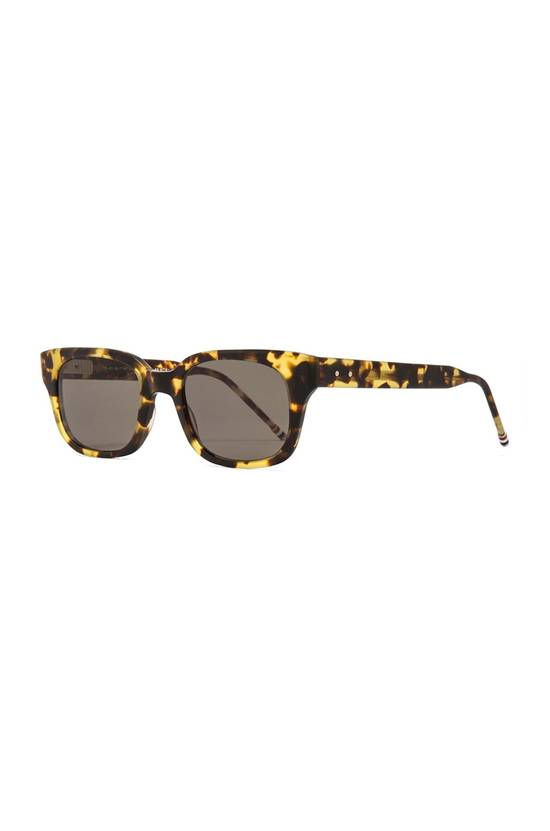 Thom Browne Thick Rectangle Frame Sunglasses MATTE TOKYO TORTOISE Size ONE SIZE - 1