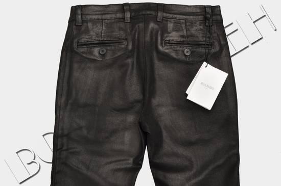 Balmain 1265$ Skinny Coated Stretch Denim Biker Jeans Size US 27 - 5