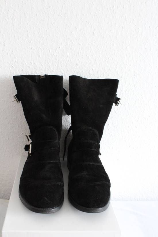 Balmain Suede Strapped Biker Boots Size US 12.5 / EU 45-46 - 2