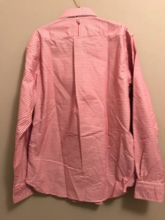 Thom Browne Red Gingham Oxford Button-Down Shirt Size US L / EU 52-54 / 3 - 3