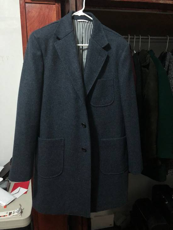Thom Browne Navy Wool Topcoat (Size 2 - Fits M/L) Size US M / EU 48-50 / 2