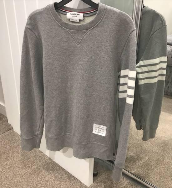 Thom Browne classic Striped Loopback grey sweatshirt Size US M / EU 48-50 / 2