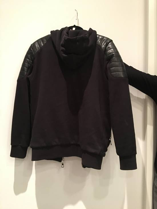 Balmain Leather Hoodie Size US M / EU 48-50 / 2 - 1