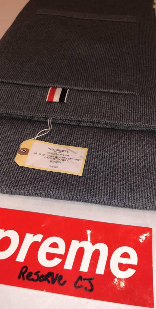Thom Browne Thom Browne Pocket Scarf Grey Size ONE SIZE - 1