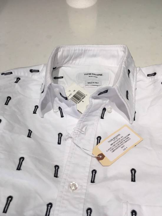 Thom Browne Button-Down Collar Embroidered Cotton Oxford Shirt Brand New With Tags Size 4 Size US L / EU 52-54 / 3 - 2