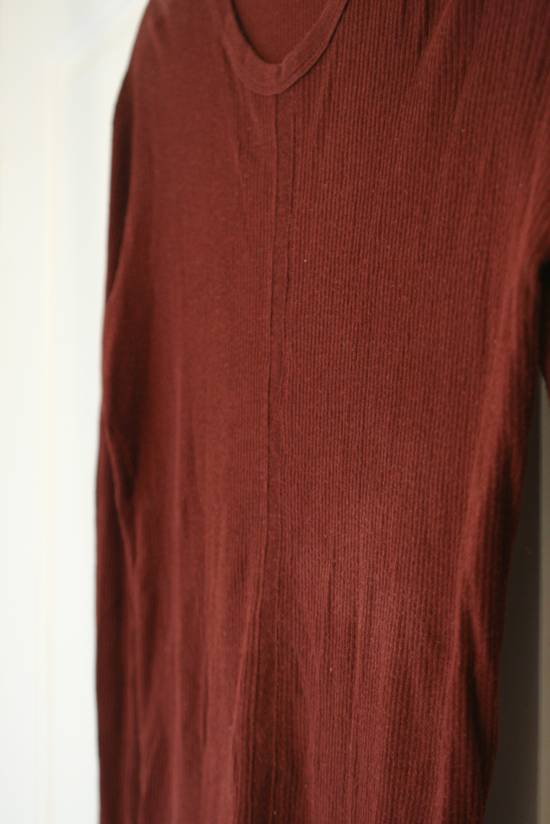 Julius FW08 Blood Red Cotton/Cashmere Rib L/S Size US S / EU 44-46 / 1 - 7