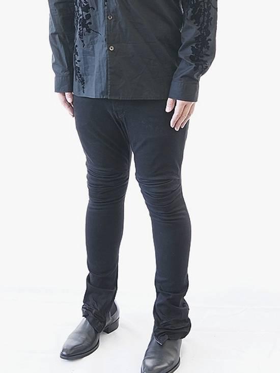 Julius Limited Wrinkle Arch Knee Bottom Zip Biker Jeans Size US 31