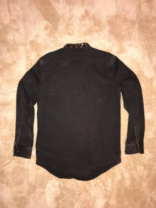 Givenchy Givenchy Black Denim Shirt With Brass Stud Detail Size US XL / EU 56 / 4 - 3