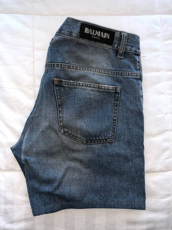Balmain [Final Drop] Distressed Denim Shorts Size US 34 / EU 50