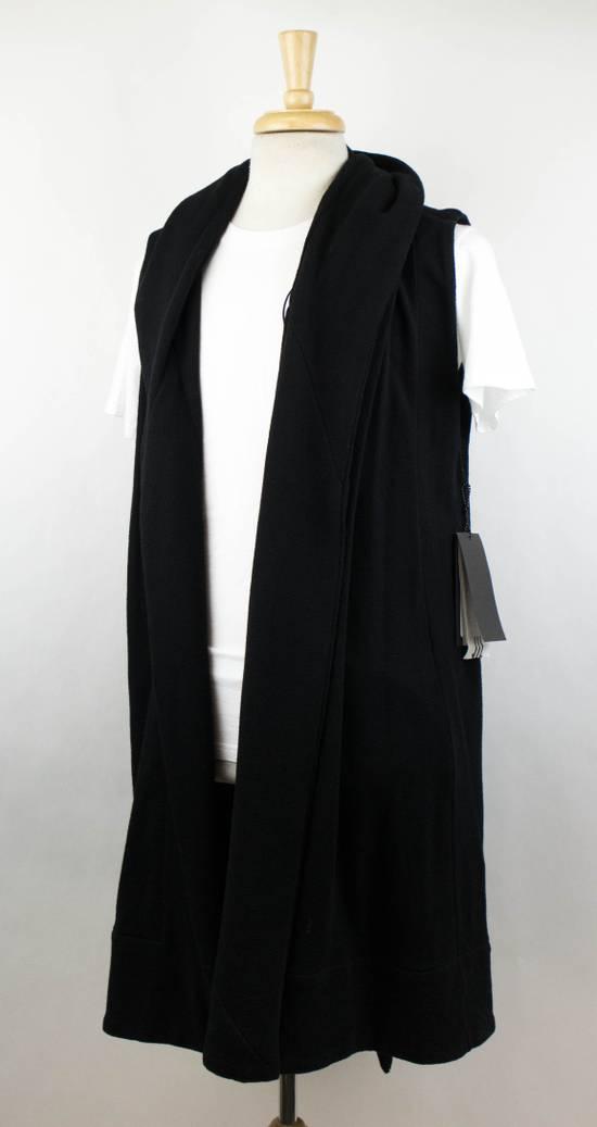 Julius Men's Black Cotton 'Sleeveless Long Coat' Vest Size 0/2XS Size US XS / EU 42 / 0 - 1