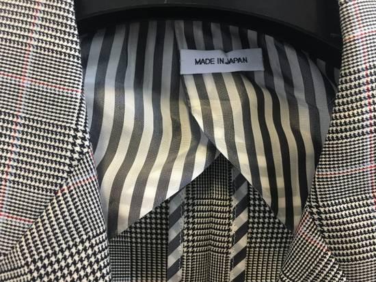 Thom Browne Men's Grey Black & White Prince Of Wales Wool Blazer Size US M / EU 48-50 / 2 - 3